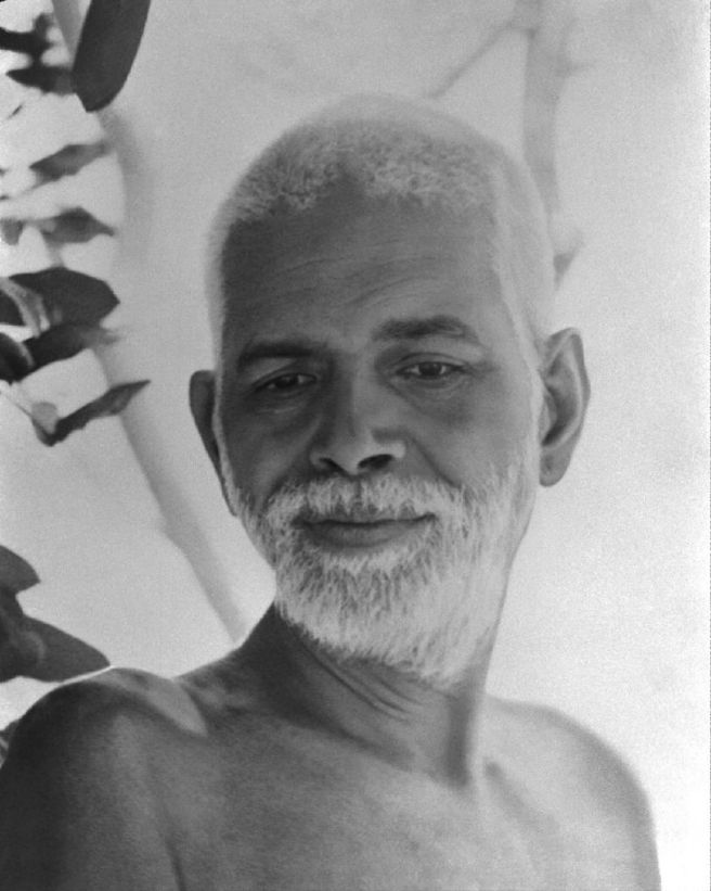 Ramana Maharshi downward gaze