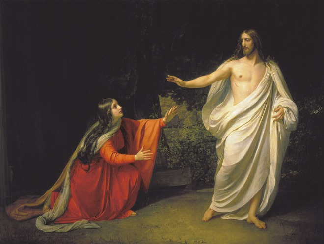 Jesus appears to Mary Magedelene after his resurrection