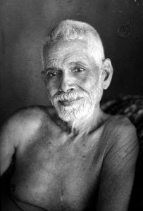 Ramana Maharshi sitting