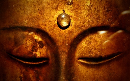Buddha face close up