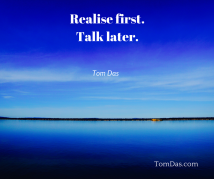 realise-first-talk-later