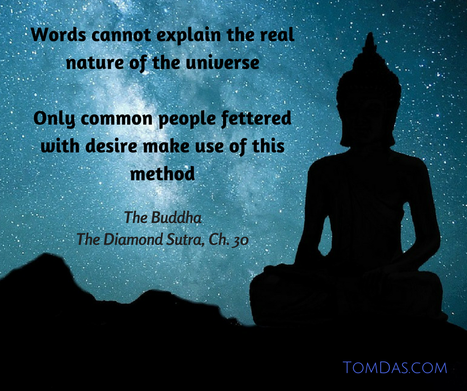 words cannot explain the real nature of the universe only common