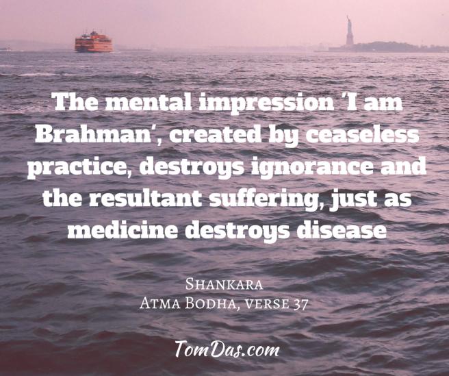 Shankara - I am Brahman destroys ignorance (1)