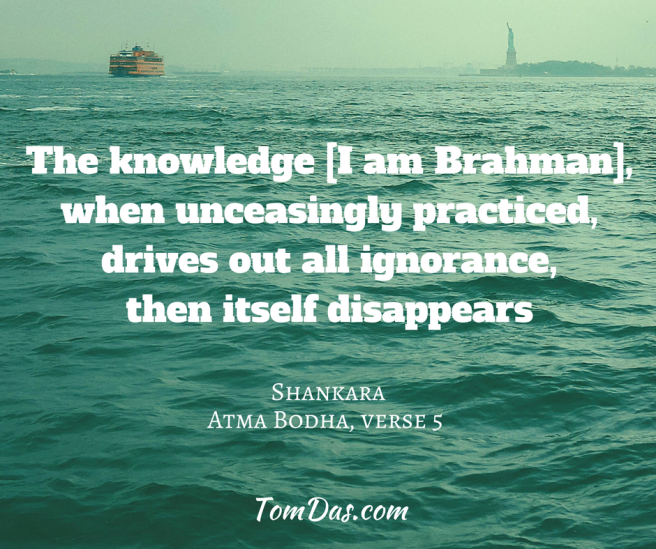 Shankara - the knowledge then itself disappears