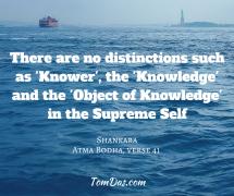 Shankara- there are no distinctions in the Supreme Self.