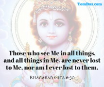 Krishna - see Me in all things, and all things in Me