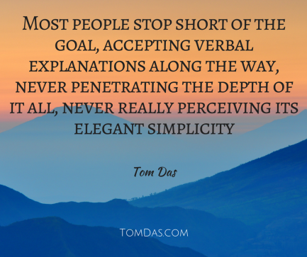 Most people stop short of the goal