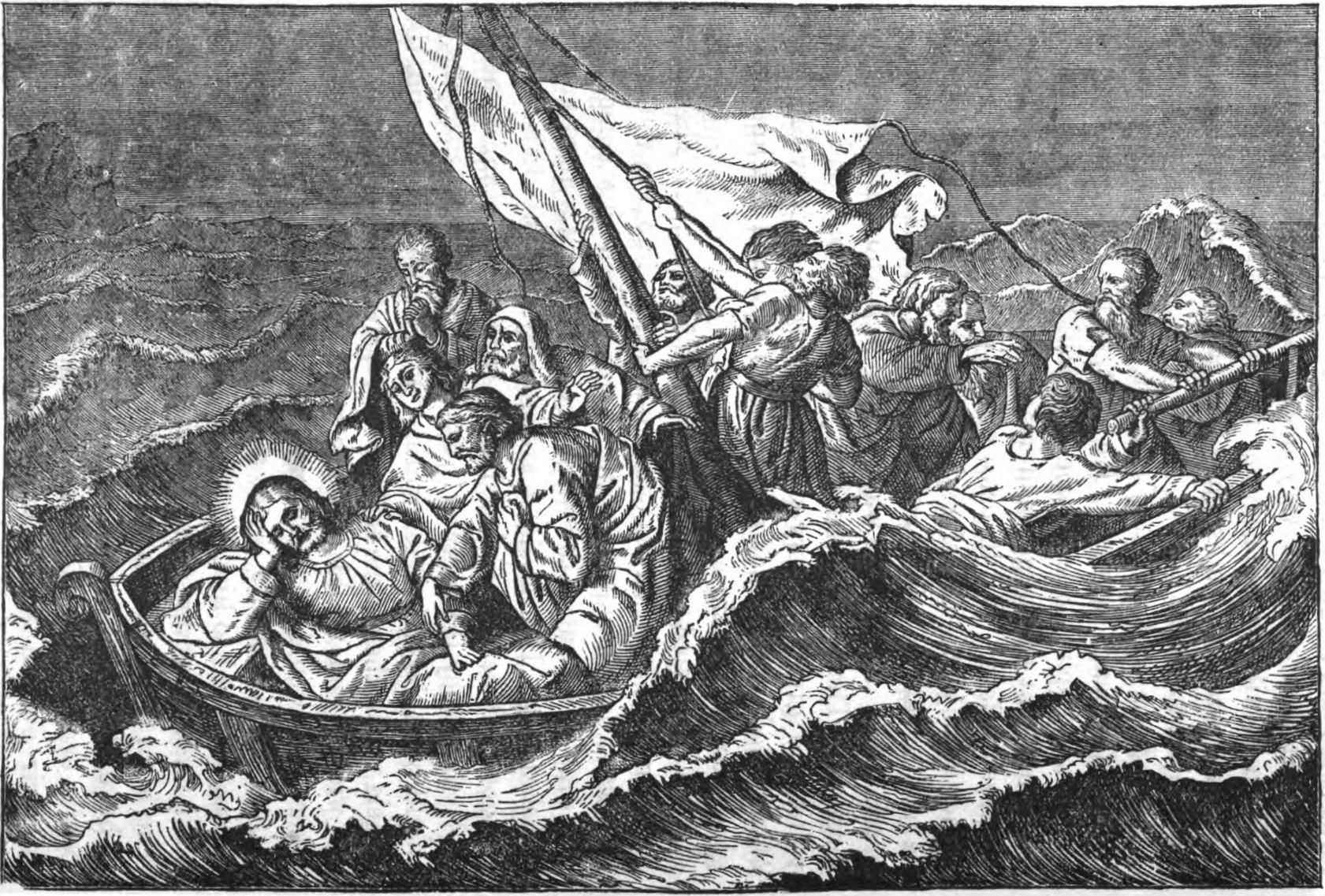 jesus storm disciples bible