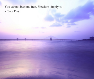 Freedom simply is