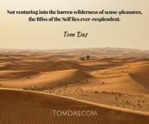 Not venturing into the barren wilderness