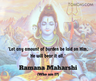 Ramana He will bear it all.