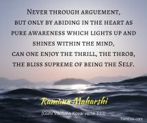 Ramana Never through arguement2
