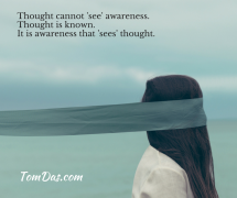 Thought cannot 'see' awareness