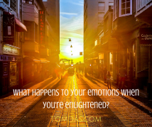 What happens to your emotions when you're enlightened