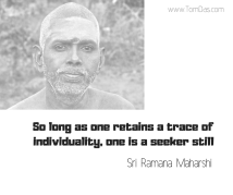 ramana a trace of individuality
