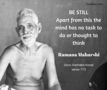 ramana be still apart from this the mind has no task