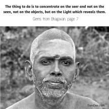 ramana concentrate on the seer
