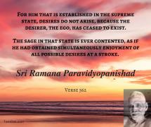 ramana desires do not arise
