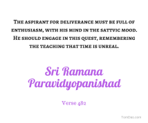 ramana - enthusiam and time is unreal