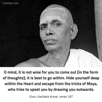 ramana escape the tricks of maya
