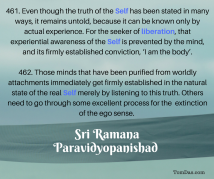 ramana ignorance and liberation