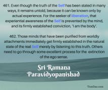 ramana ignorance and liberation