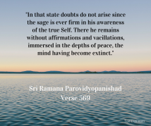 ramana in that state doubts do not arise