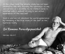ramana - intellectual knowledge alone is not enough