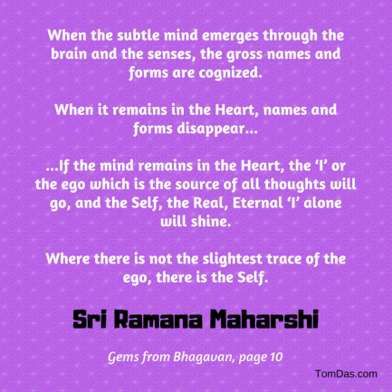 ramana maharshi not a trace of ego