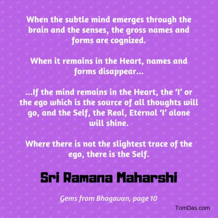 ramana maharshi not a trace of ego