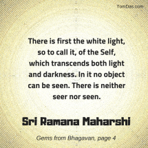 ramana maharshi white light of the self