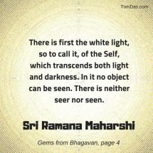 ramana maharshi white light of the self