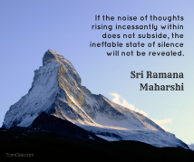 ramana need thoughts to subside