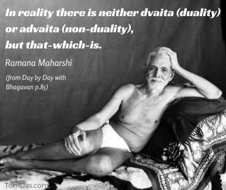 ramana neither duality or nonduality