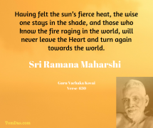 ramana never leave the heart