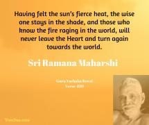 ramana never leave the heart