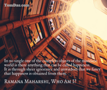 ramana no happiness in objects