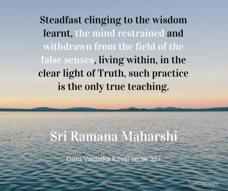 ramana only true teaching