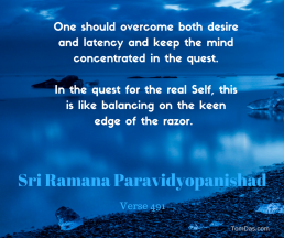 ramana - overcome desire and latency