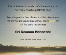 ramana practice firm abidance in self-awareness