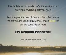 ramana practice firm abidance in self-awareness