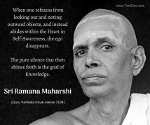 ramana refrains from looking out and noting objects