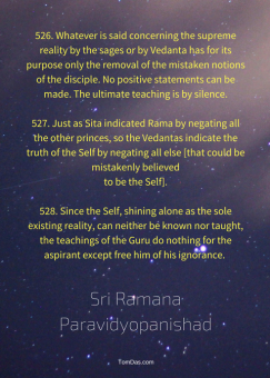 ramana remove ignorance only