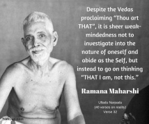 ramana sheer weakness not to abide in the self