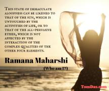 ramana state of immaculate aloofness