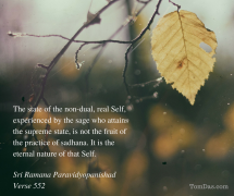 ramana supreme state is not attained