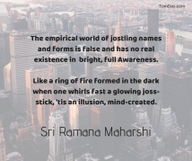 ramana the empirical world of jostling names and forms is false