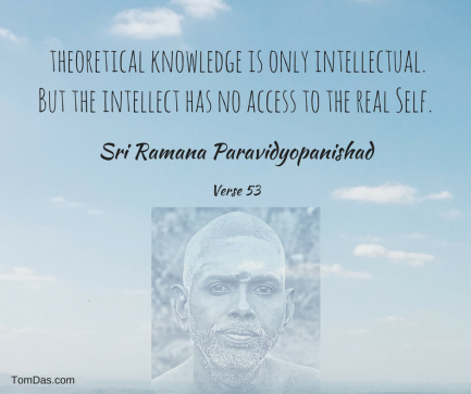 ramana the intellect has no access to the real self