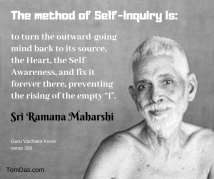 ramana the method of self-inquiry is
