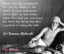 ramana- the thrill, the throb of being the self